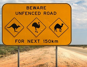 Warning signs like this one from Australia are a form of risk communication too.